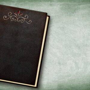 book, embossing, leather